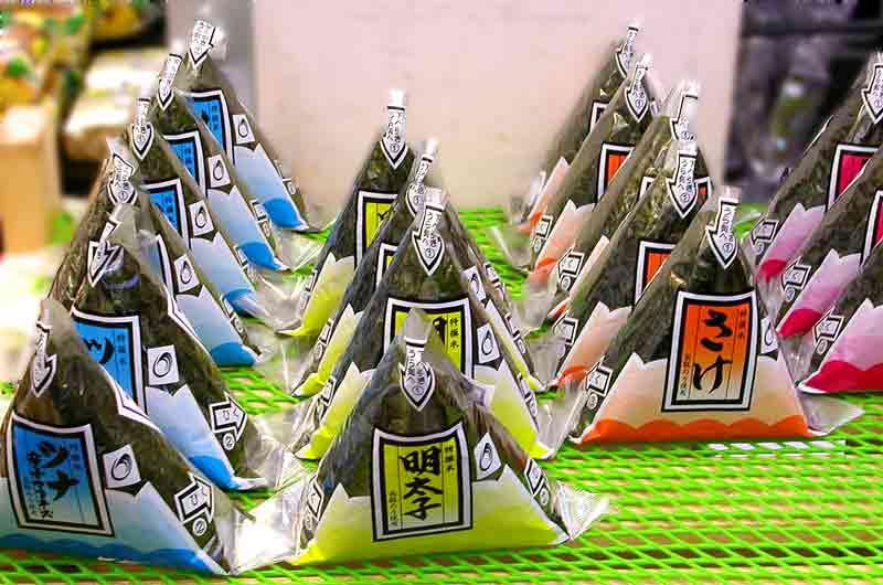 Onigiri colorful wrapping