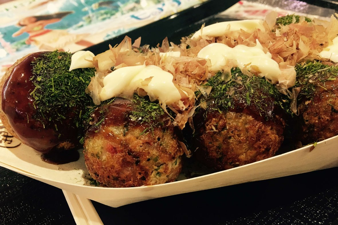 Takoyaki on our Arigato Japan food tours