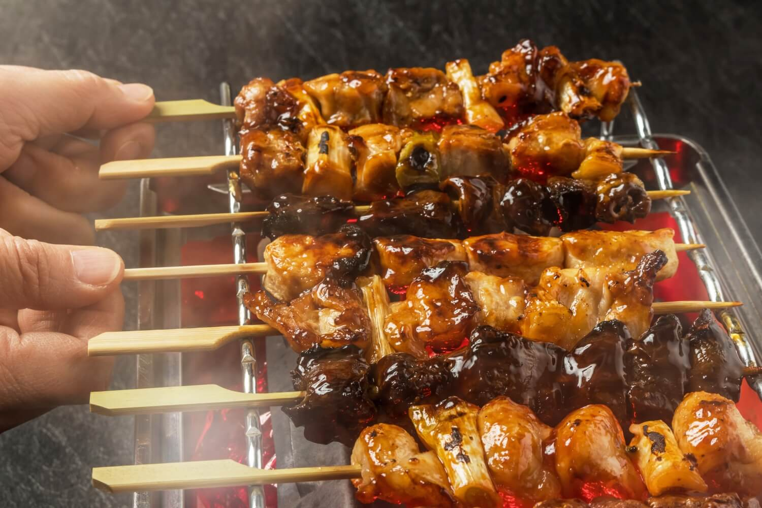 Yakitori, grilled meat on skewers -- Arigato Japan