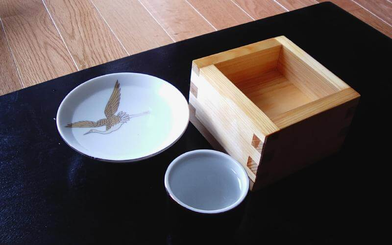 Photo: Sake in three cups photographed by the Epopt