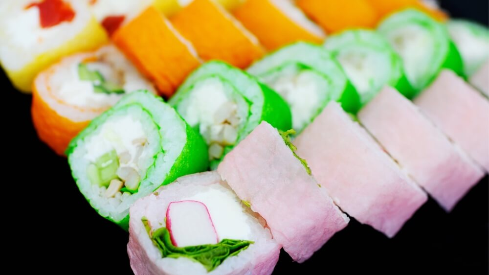 Rainbow Sushi Arigato Japan Food Tours Japans No 1 Food Tour