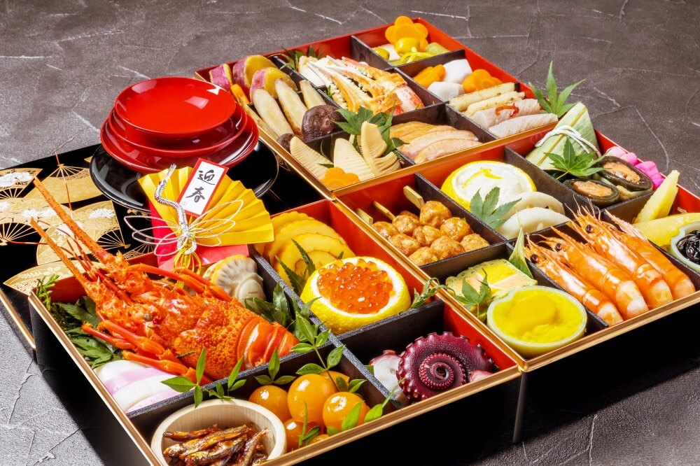 new year food japan osechi