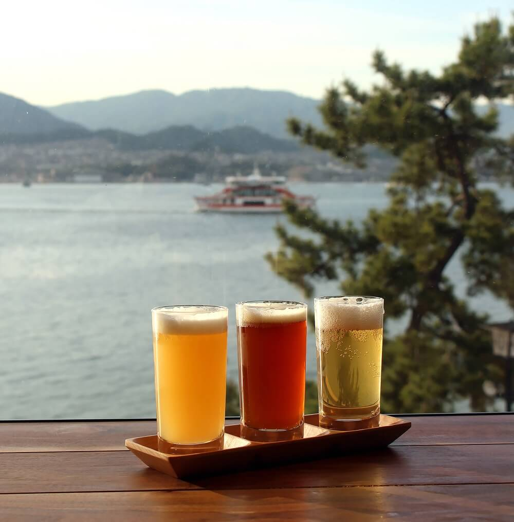 Beer miyajima japan