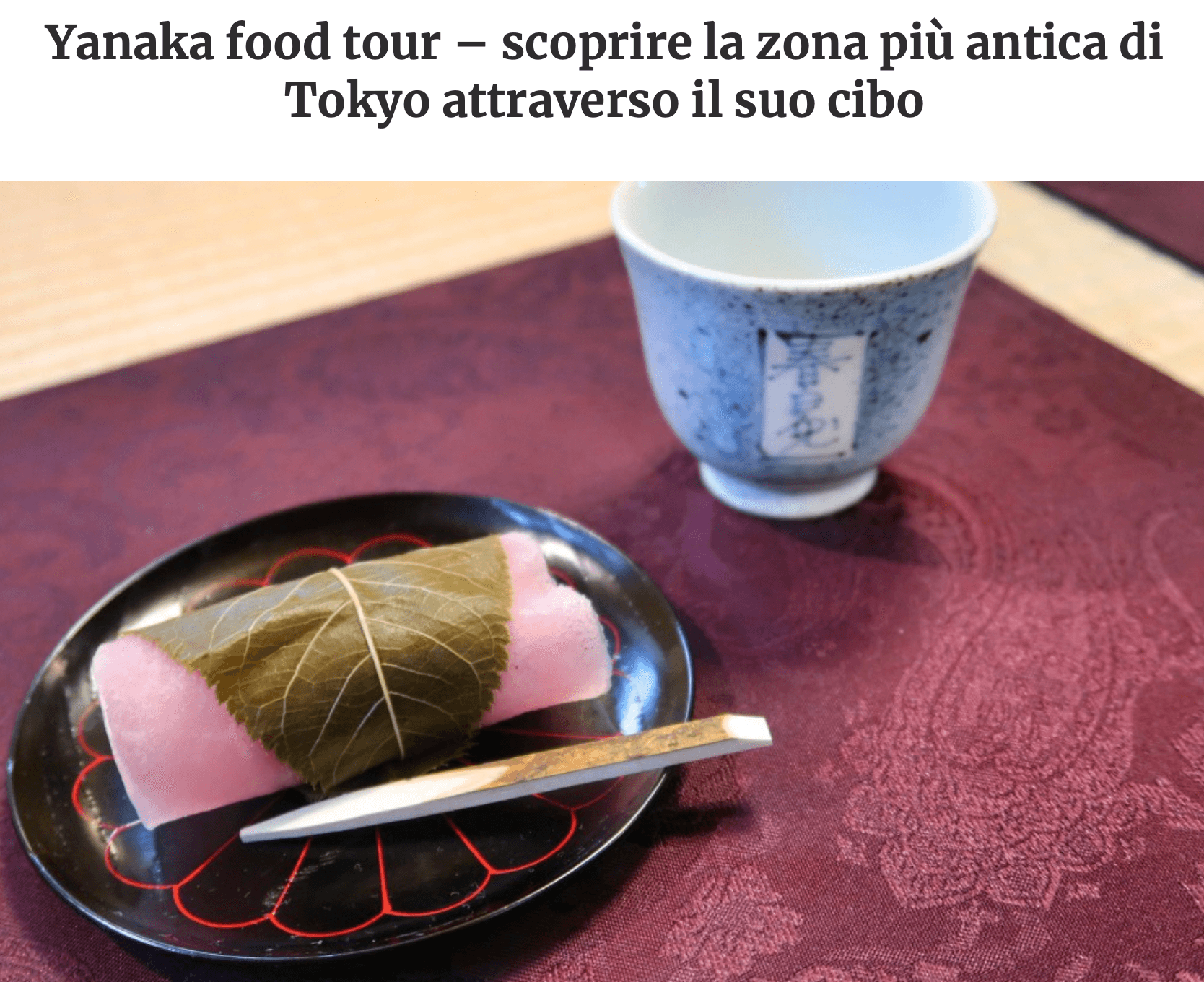 Prossima Fermata Giappone Yanaka food tour