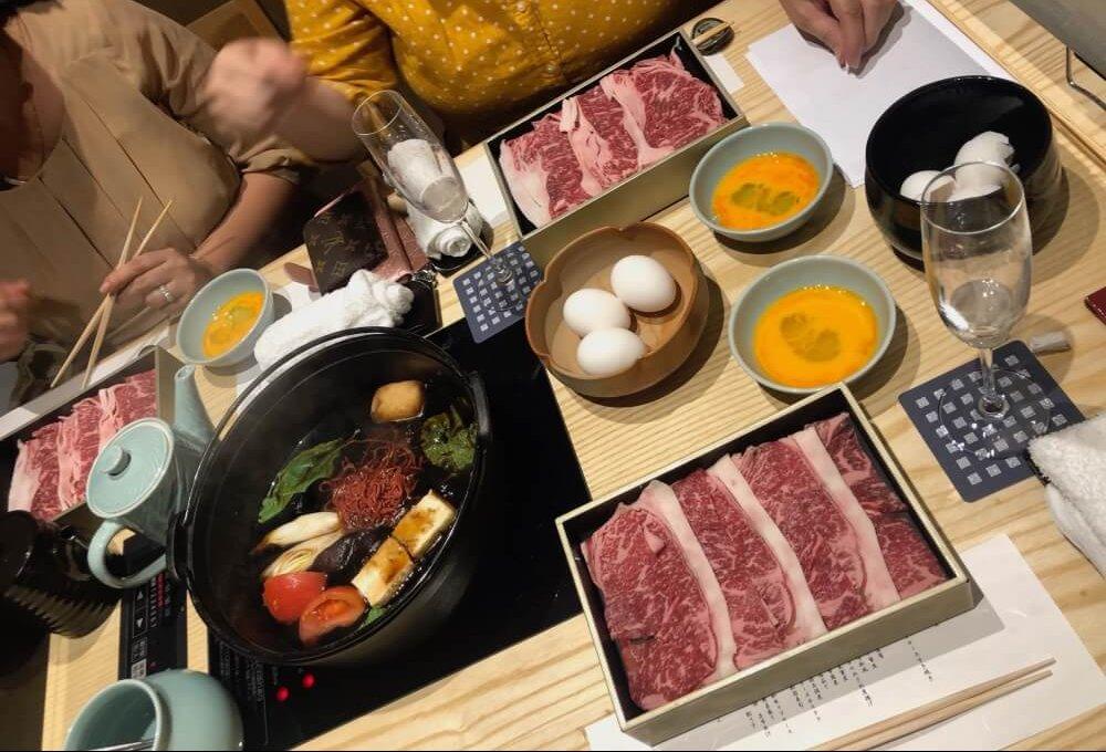 Kasuitei Sukiyaki restaurant Tokyo