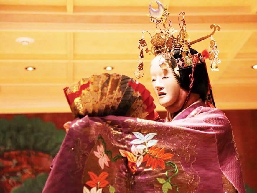 Noh dancer in mask