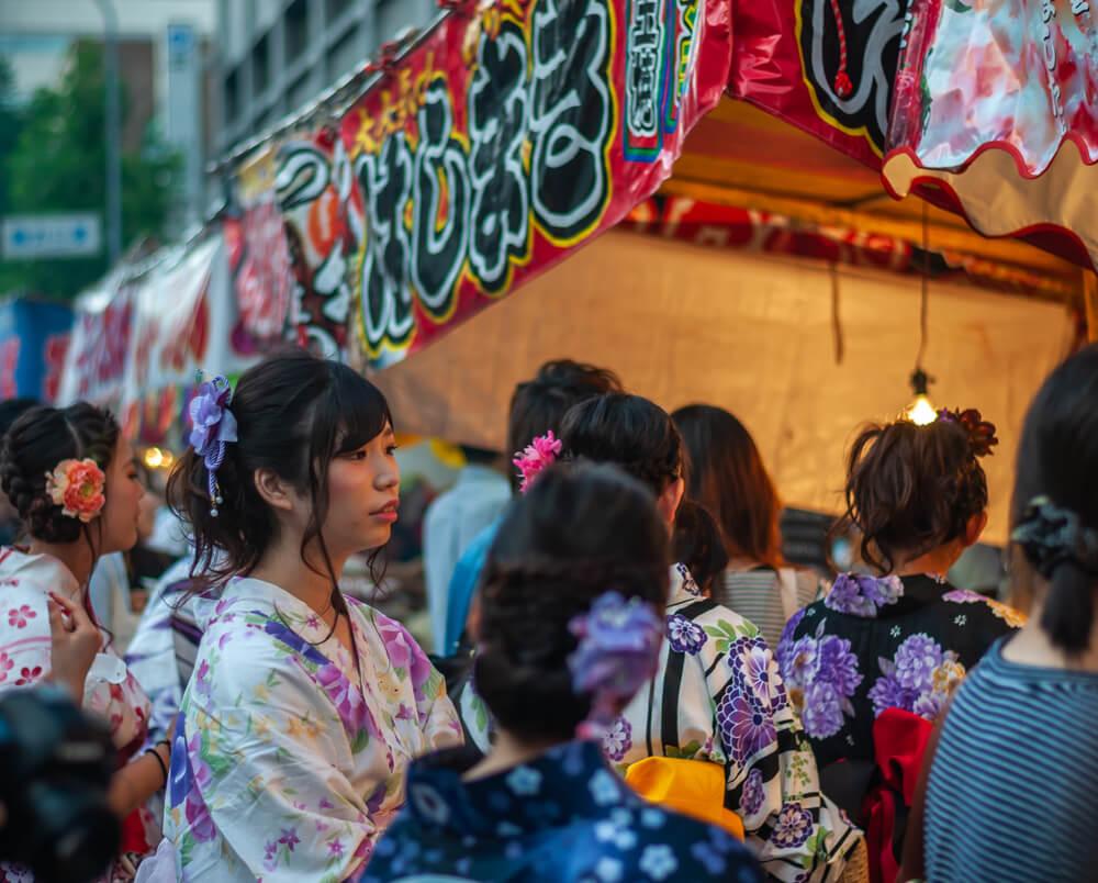 Summer matsuri Japan