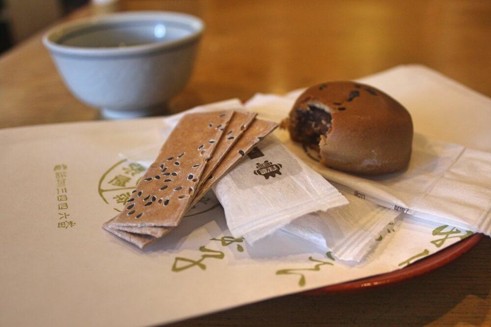 Honke Owariya soba rice-cake