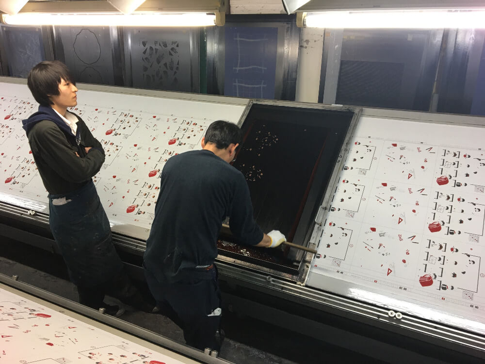 Handkerchief Hand-Printing