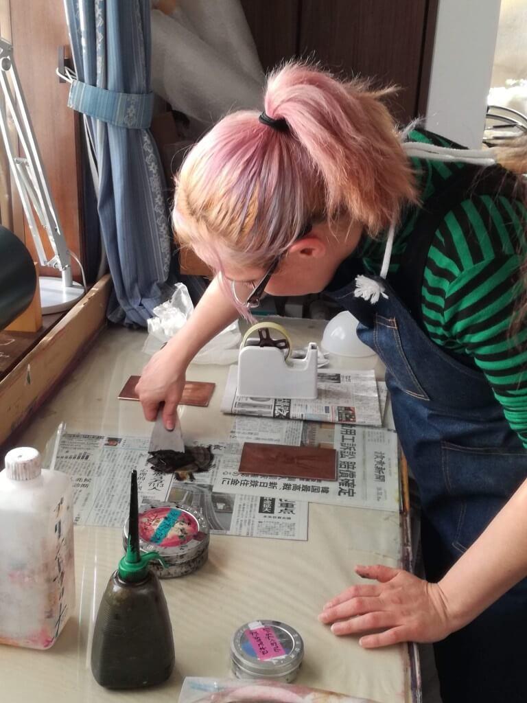 Etching workshop at Saitama