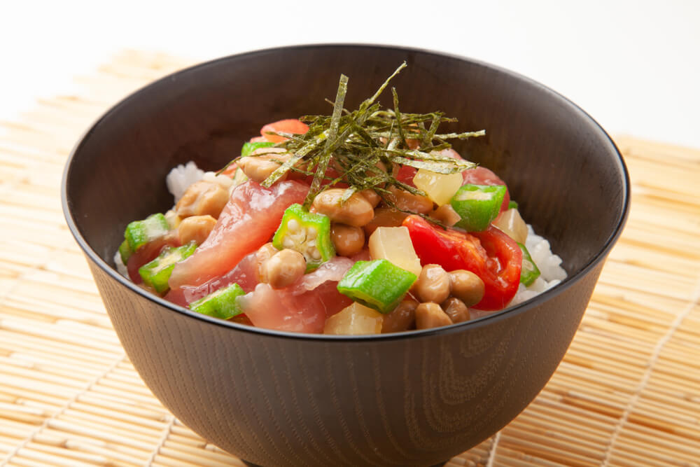 Natto and Tuna Sashimi Rice Bowl