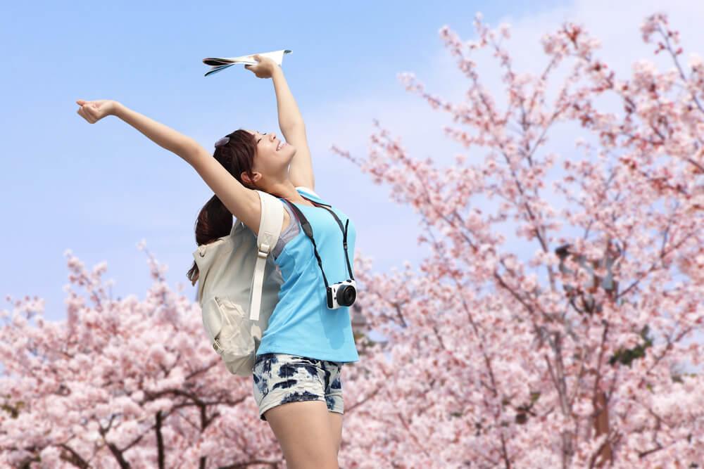 Woman sakura