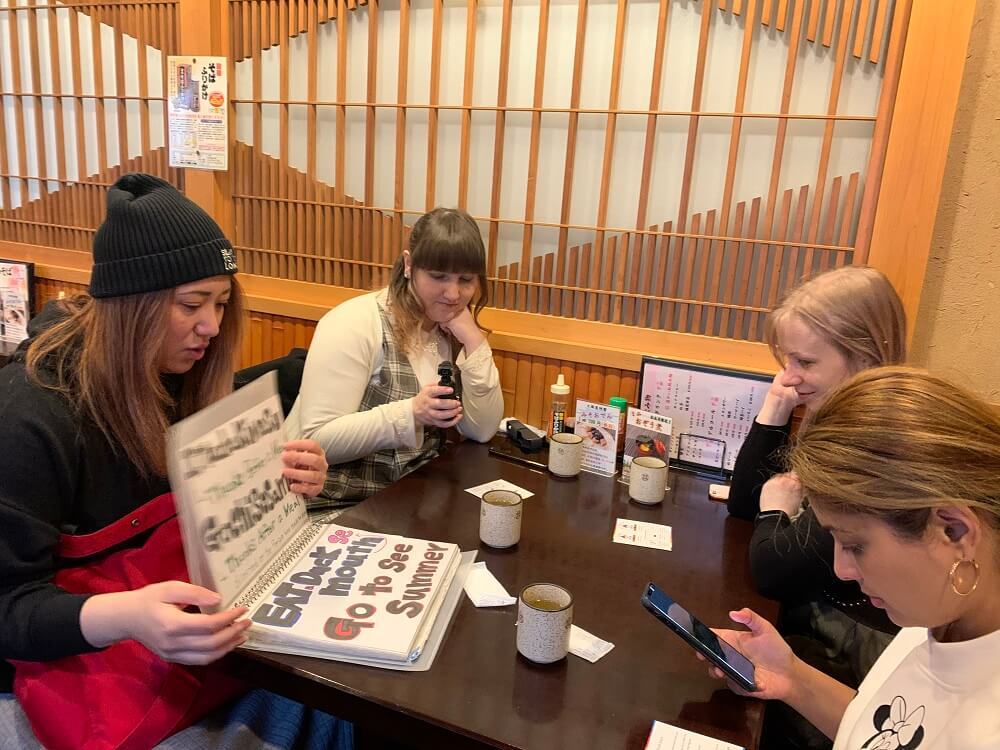 Food, Culture and Calligraphy Tour in Sugamo