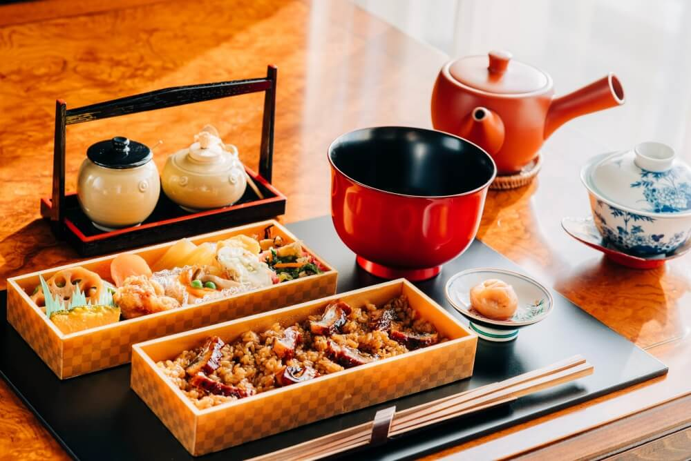 A traditional meal always comes with tea in Japan