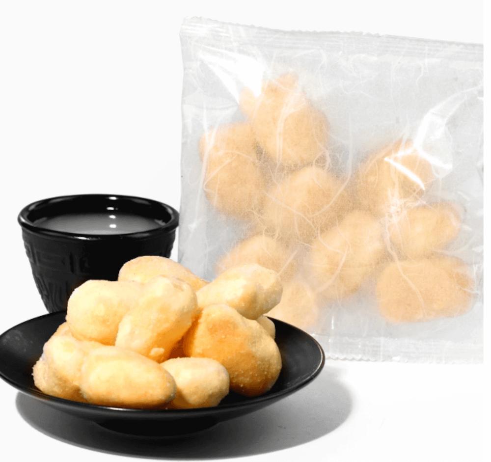 Amazake mochi puffs